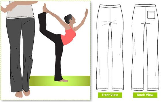 Women's Sewing Pattern - Becky Yoga Pant - Sizes 28, 30 - Yoga Pant Pattern by Style Arc