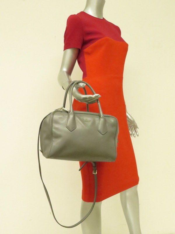 9757083335da Prada Inside Bag Soft Calf Leather Marble Gray   Sage Green  3050  Prada   Satchel