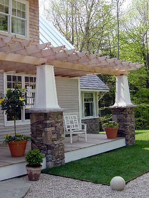 @Deborah McFarling  I'm thinking the porch on the side of the house off the dining room would be pretty as a pergola.