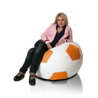 Bean Bag Chair Upholstery: White / Orange - http://delanico.com/bean-bag-chairs/bean-bag-chair-upholstery-white-orange-590694149/