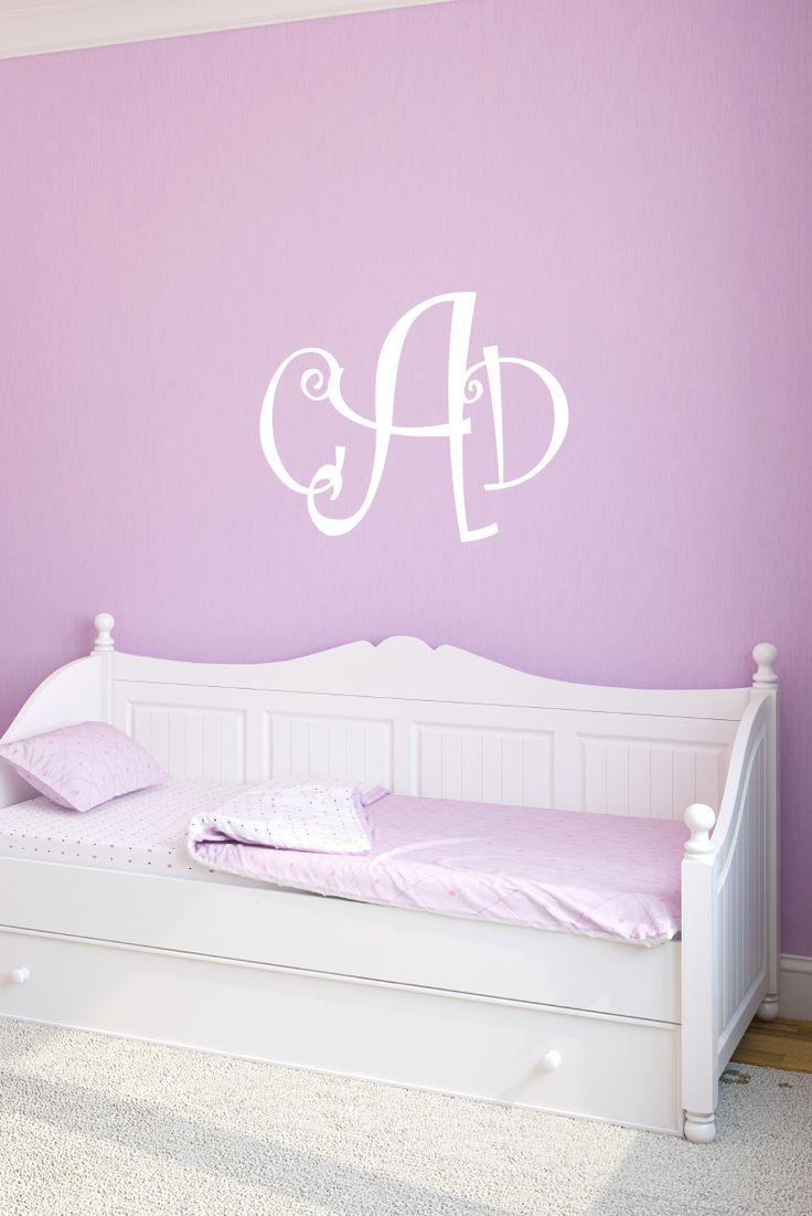 Decals That Dazzle - Curlz Monogram Wall Decal - Personalized Initials - College Dorm Room - & 15 best Monogrammed Wall Decals images on Pinterest | Monogram wall ...