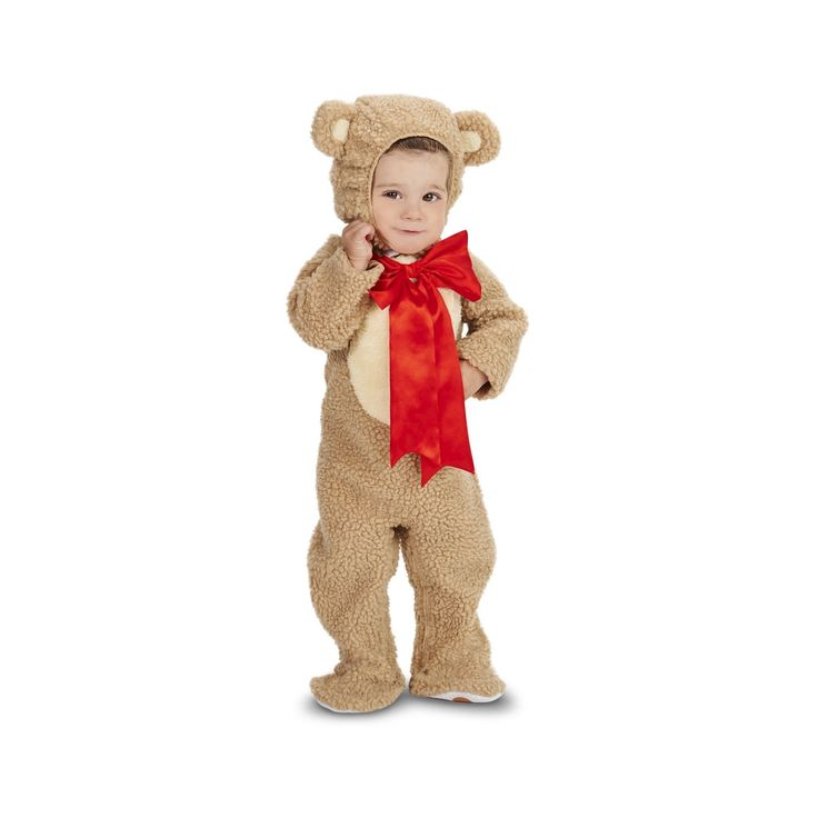 Halloween Lil' Teddy Bear Baby Costume 12-18 Months, Infant Unisex, Size: 12-18 M, Brown