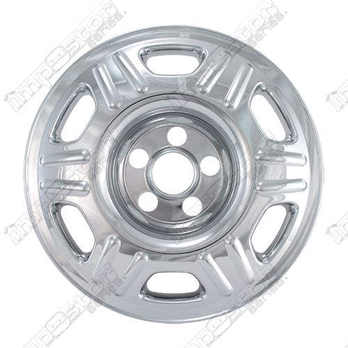"Honda Crv  2005-2006 Chrome Wheel Covers, 6 Dbl Raised Dimples (16"" Wheels)"