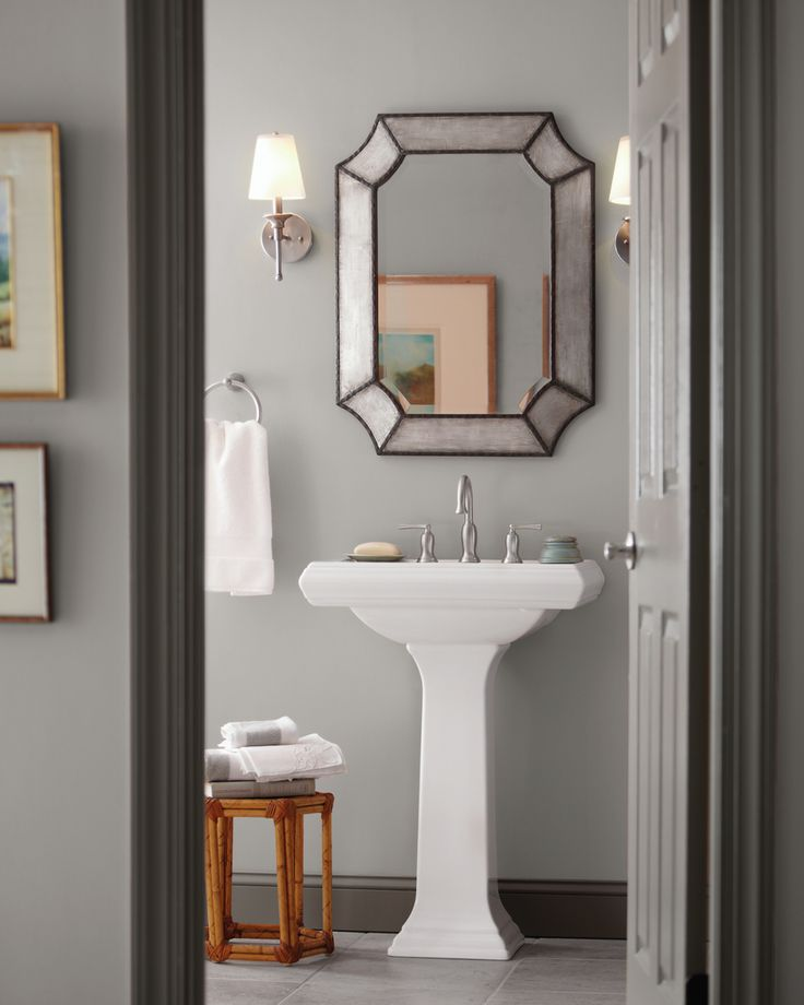 One Color, Two Ways. Behr Silver Bullet Is A...