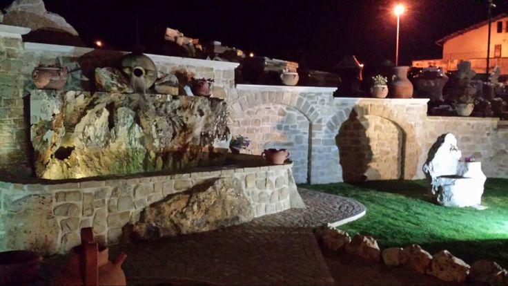 nostra esposizione fontane in blocchi per cascate