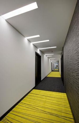Whether its a design for a hotel or office the connecting corridor spaces are part of the experience for the inhabitants of the space.