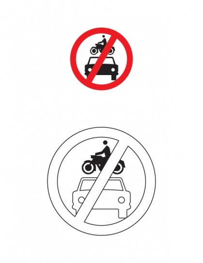 All motor vehicles prohibited traffic sign coloring page | Download Free All motor vehicles prohibited traffic sign coloring page for kids | Best Coloring Pages