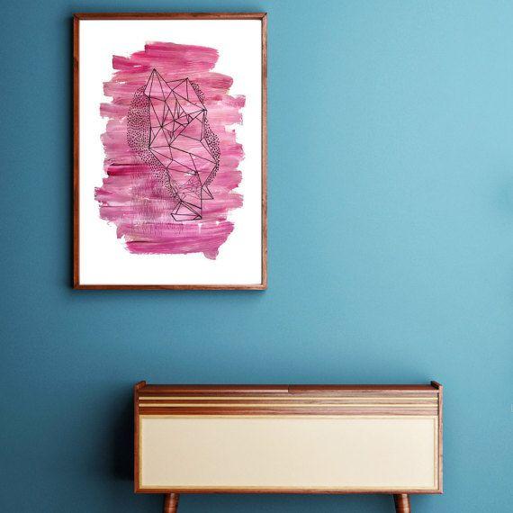 Sunday Rose // 18x24 Acrylic & Ink on Mixed by KelseyLampeArt