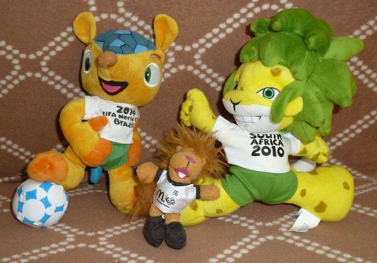 mascot World Cup FIFA 2006 2010 2014 Goleo Zakumi Fuleco maskottchen MASCOTTE   | eBay