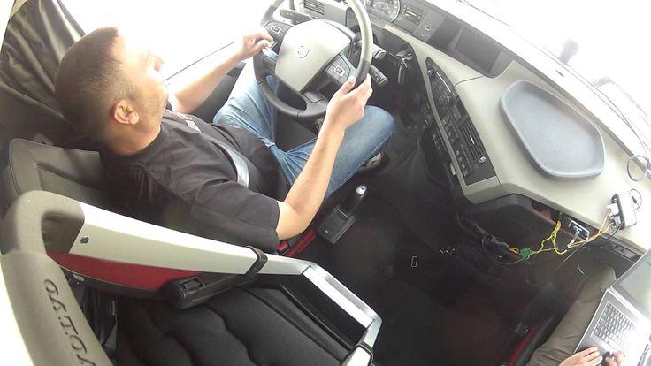 Demonstration of Volvo's emergency brake system