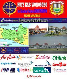 Rute Kabupaten Wonosobo ke Bandar Udara Adi Sumarmo | Mbah Online