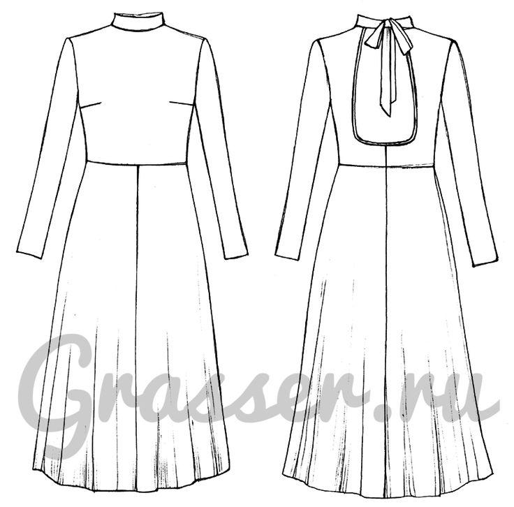 Выкройка №396, платье, магазин выкроек grasser.ru #sewing_pattern