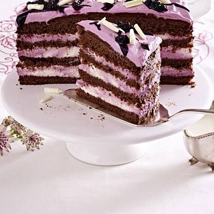 Schokoladen-Brombeer-Torte Rezept | LECKER