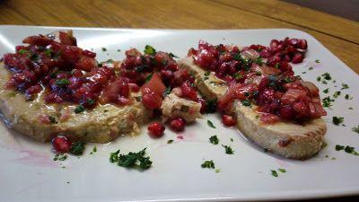 cucina di casa: filetto di tonno con melograno