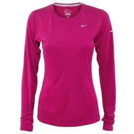 Nike shirt lange mouw Miler fuchsia dames bij Hardloopaanbiedingen.nl #Nike #hardloopshirt #hardlopen #hardloopaanbiedingen