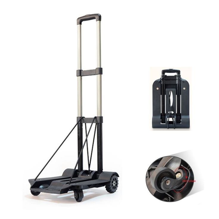 wincspace lightweight folding hand cart dolly fold up hand truck portable utility moving shopping wheelroate - Rolling Utility Cart