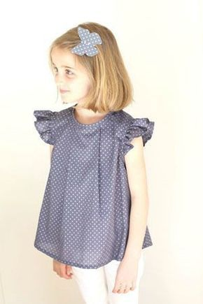 OSLO sewing pattern - c'est dimanche - butterfly sleeves added