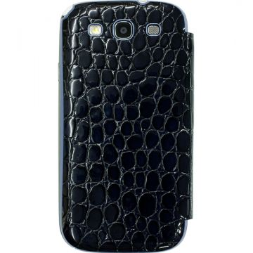 Husa Anymode Me-In Mirror Croco Neagra Galaxy S3