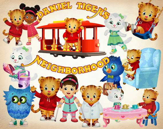51 Daniel Tiger S Neighborhood Clipart Png Digital By