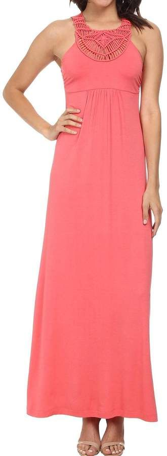 Beautiful Coral Maxi dress from Tommy Bahama Tambour Crochet #ad