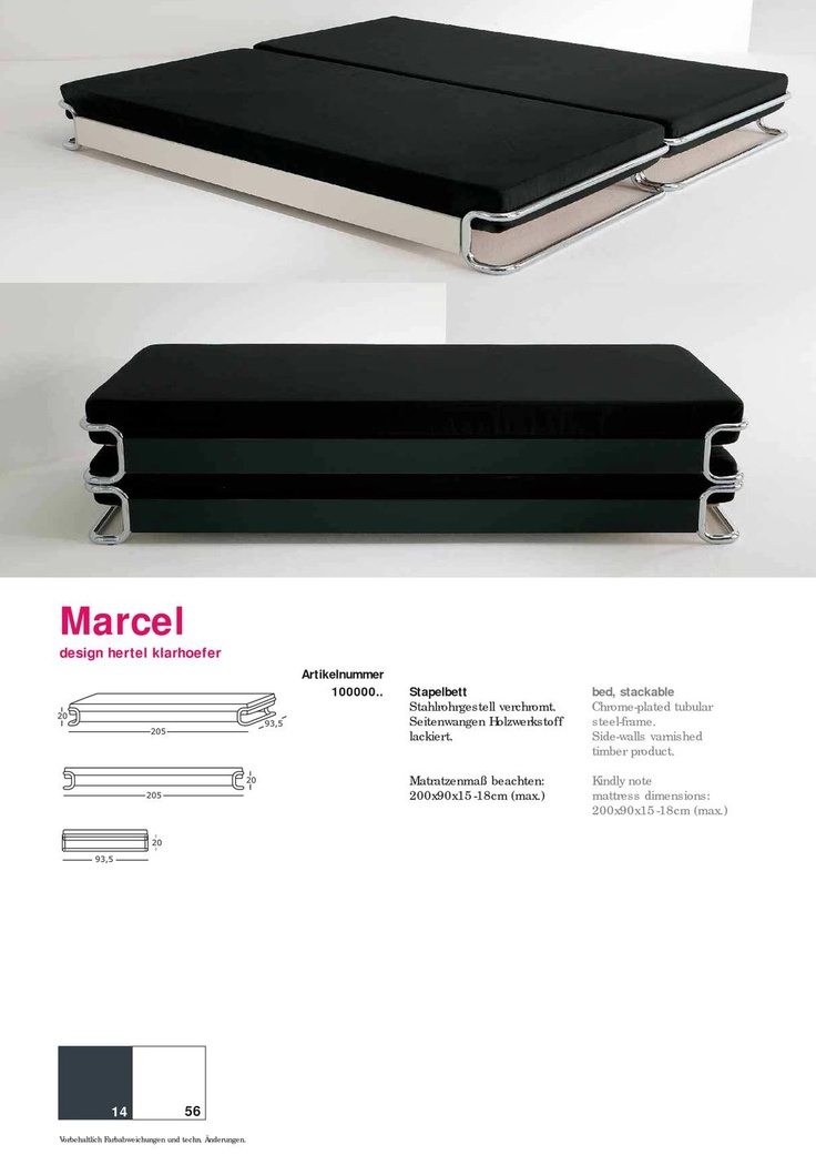 marcel stapelbett elmar fl totto 2 furniture pinterest philippe starck marcel and. Black Bedroom Furniture Sets. Home Design Ideas
