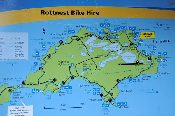 rottnest island map - Google Search
