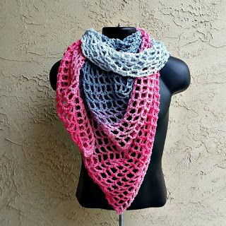 Remixed Triangle Scarf or Shawl