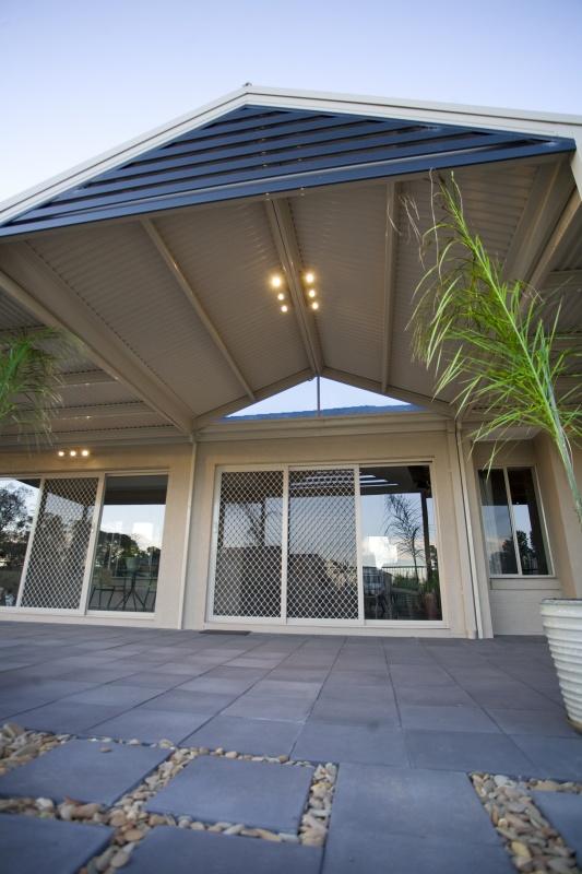 Pergolas Plus Outdoor Living : Gable Roof Dark Gable Slatted Infill
