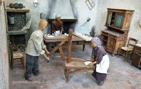 mobili in miniatura antichi - vecchia cucina di campagna