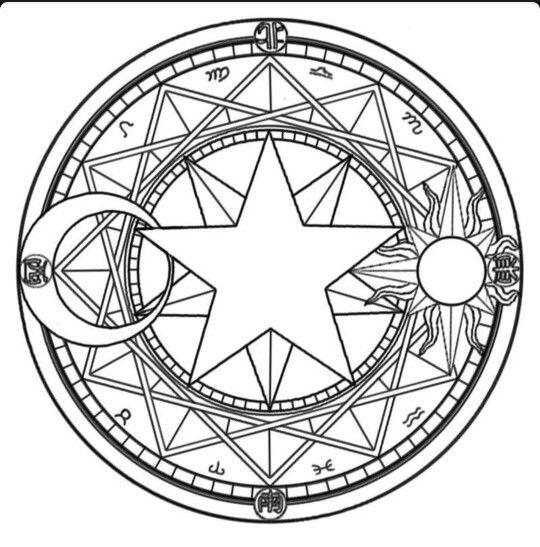 Sorcery And Magic Symbols Circles