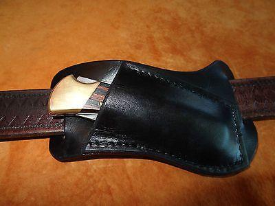Handmade Horizontal Carry Knife Sheath  Buck 110 and Buck 112  Black