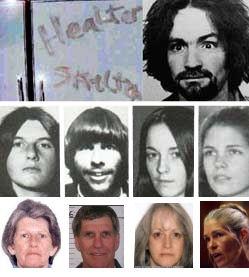 Charles Manson, Tex Watson, Susan Atkins, Patricia Krenwinkel & Leslie VanHouten, sentenced to death for the Tate/LaBianca murders Aug. 1969