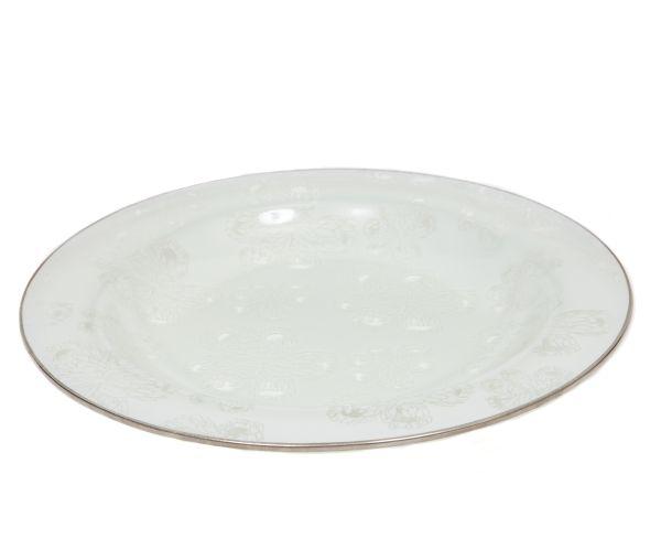 Protea Glass Salad Dish in white. #glass #protea #white