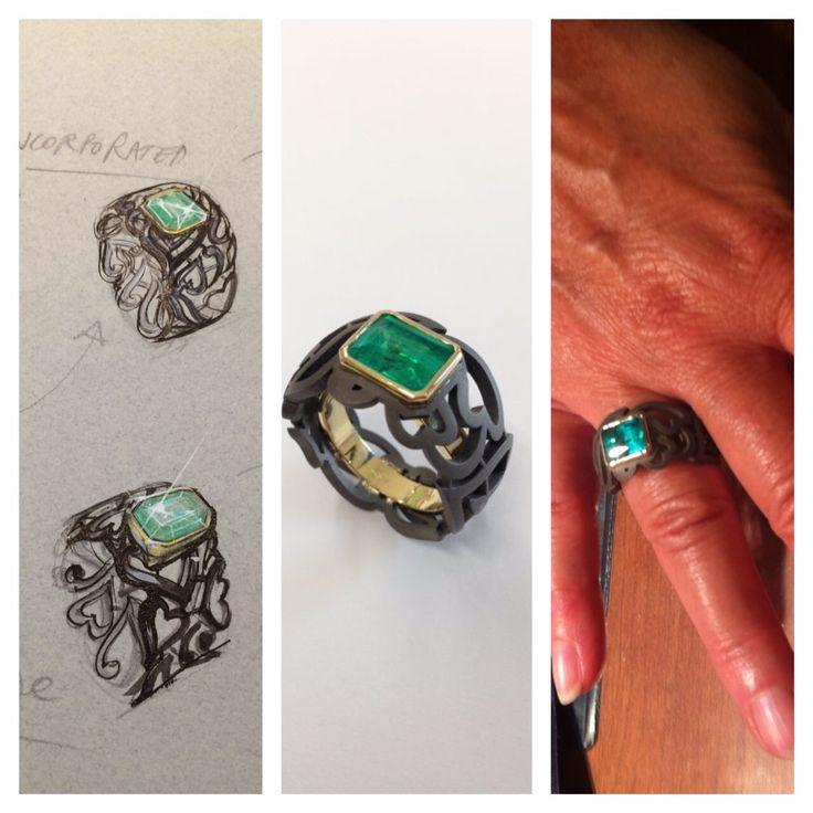 In un pizzo stilizzato, una gemma di grande valore. Abbinamenti di colore straordinari ed insoliti!