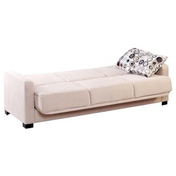 @Overstock - Comfortable and stylish, the transitional Trace Convert-a-Couch futon sofa features squared arms and converts into a full size bed with the touch of a hand. The futon sofa is covered in a durable khaki beige microfiber and works well in?any decor  http://www.overstock.com/Home-Garden/Trace-Convert-a-Couch-Khaki-Beige-Microfiber-Futon-Sofa-Sleeper/6185162/product.html?CID=214117 $439.99