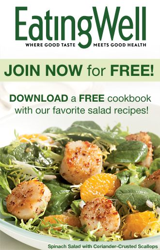 Join EatingWell for FREE and Download a FREE Cookbook with Healthy Salad Recipes!