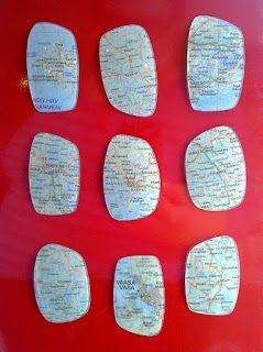 Map Magnets (eyeglass lenses)