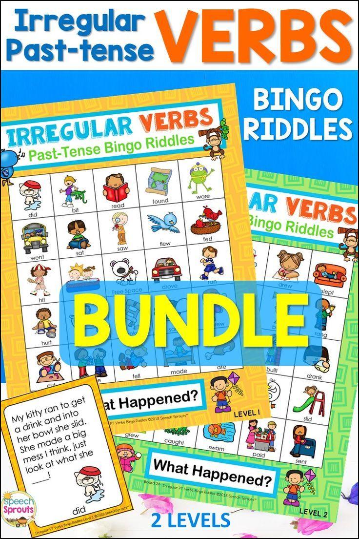 Irregular Past Tense Verbs Bingo Riddles Bundle Irregular Past Tense Verbs Irregular Past Tense Verbs Activities [ 1104 x 736 Pixel ]