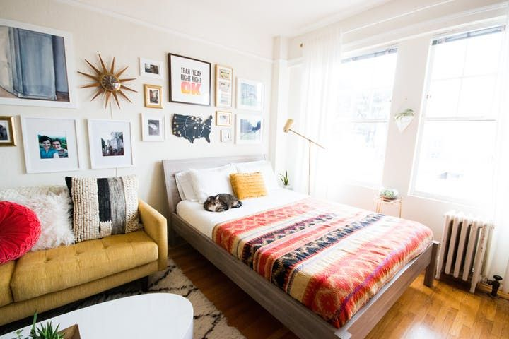 House Tour: A Colorful 400 Square Foot Studio Apartment | Apartment Therapy
