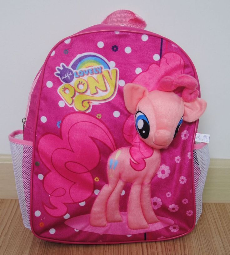 My Little PONY House Plush Kids Backpack Rucksack Book bag School Bag Gift #04 #Disney #Backpack