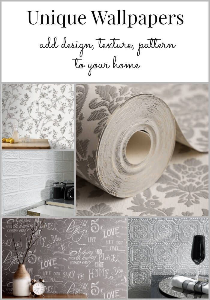 unique wallpaper ~ not your grandmas's paper