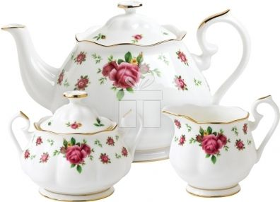 Set 3 Piese Ceai Royal Albert Roses White #accesoriiceaiportelan #portelanenglezesc #ceainic #cadouridelux #cadourispeciale #cadourifemei