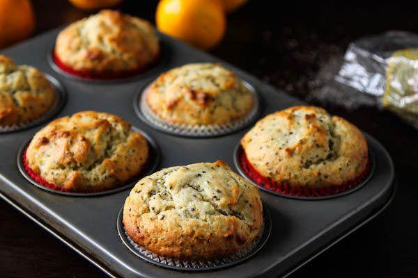 Healthier Meyer Lemon Chia Seed Muffins | TheCornerKitchenBlog.com