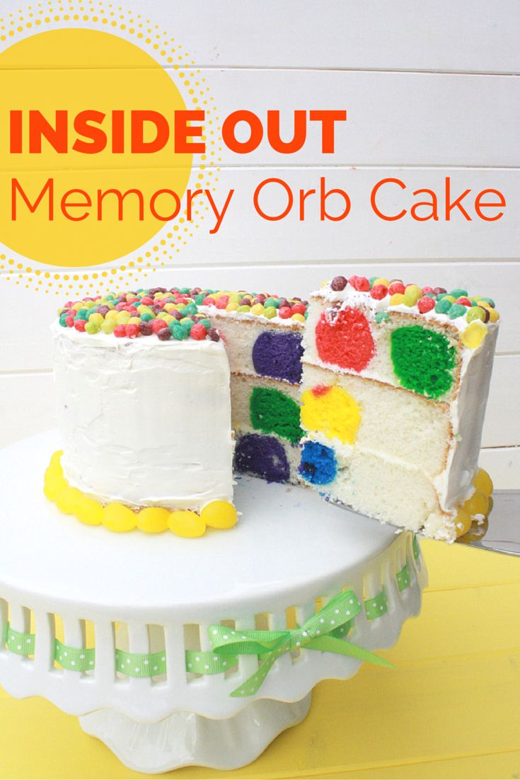 Pixar Disney Inside Out Memory Orb dot cake diy.