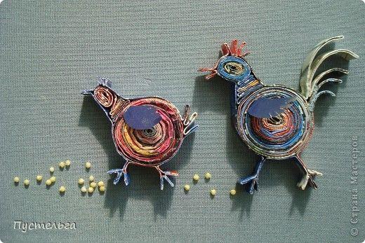 Поделка изделие Птичьи истории Бумага журнальная фото 1