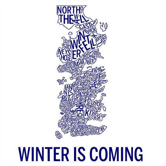 Winter is coming navy