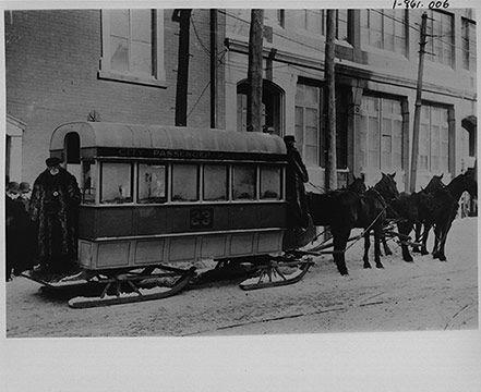 Winter tramway.