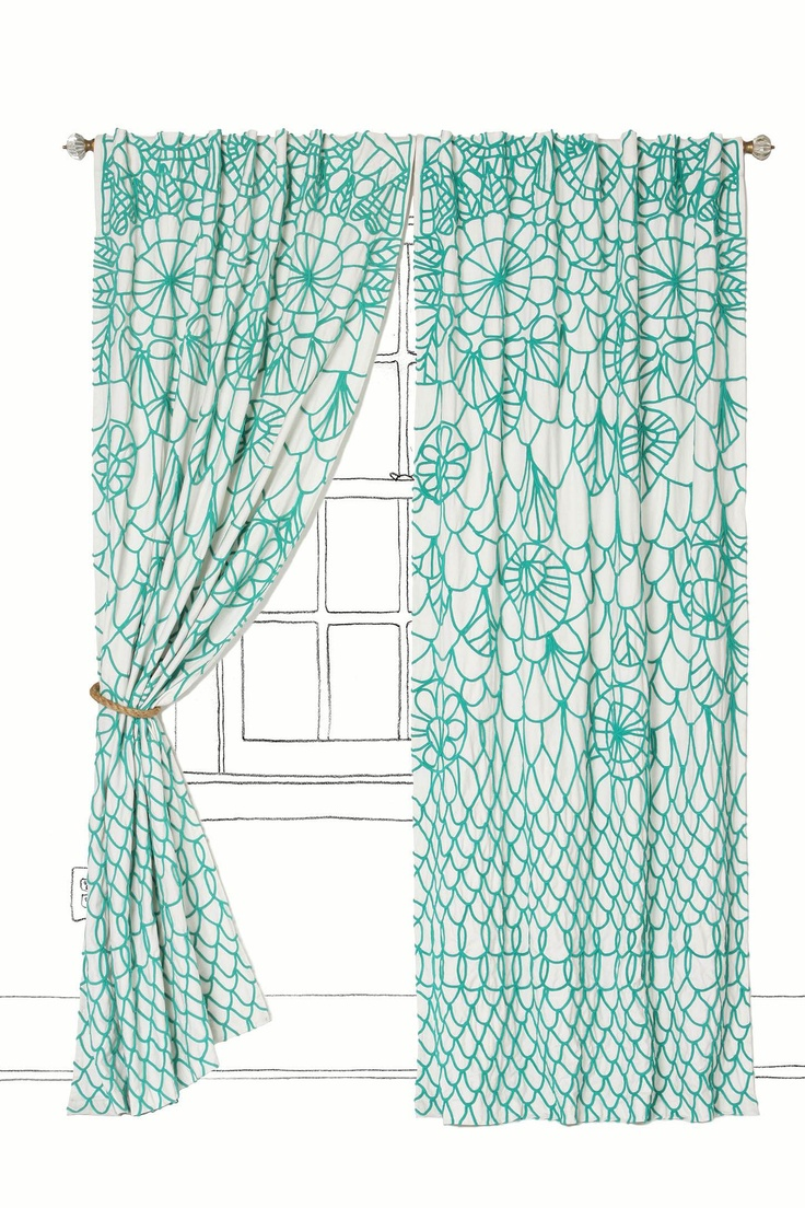 Inspiration In Case I Can 39 T Paint My Walls Bright Curtains Or Window Treatments For Added