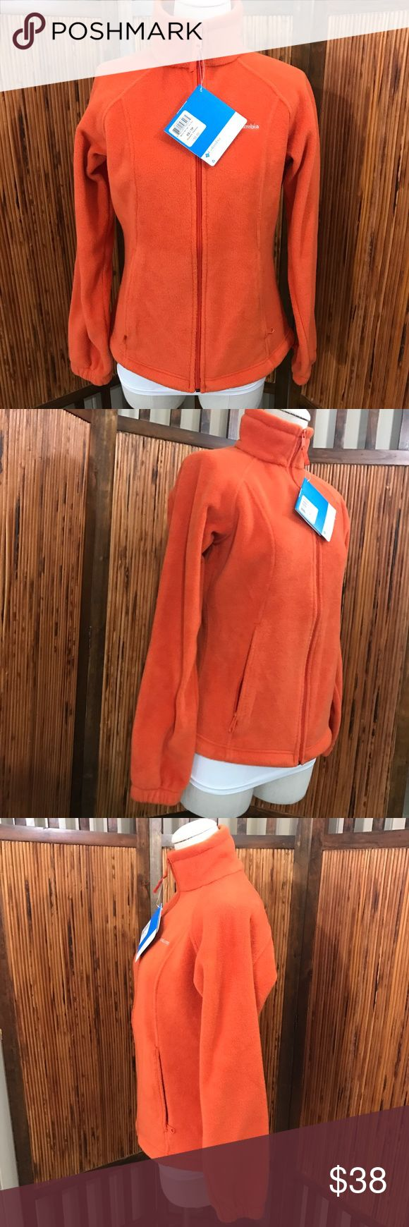 Columbia orange zip up fleece new with tags Nwt Columbia Jackets & Coats