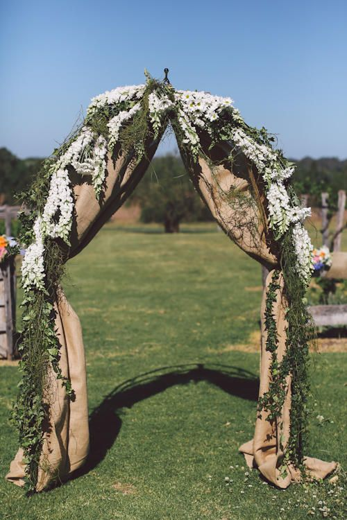 To Be Frank Weddings - wedding planner, ceremony arch, hessian county wedding, flowers, Belganny farm Camden